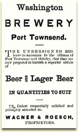 Wagner & Roesch Washington Brewery ad ca. 1878