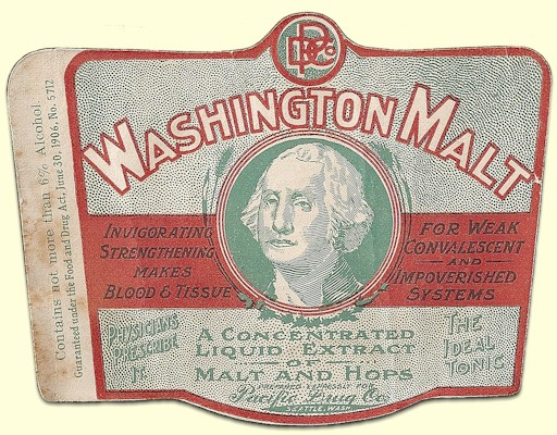Washington Malt label