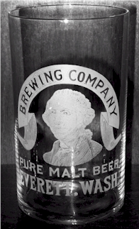 Washington Brewing Co. beer glass, c.1903 - image