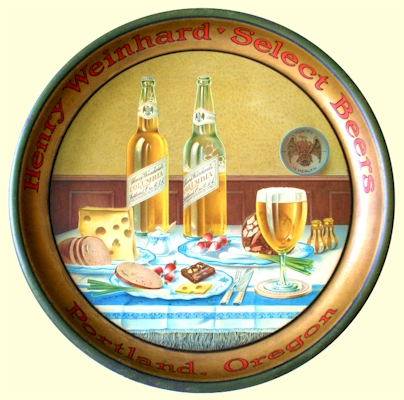 Weinhard Select Beers tray