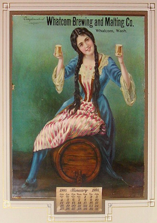 Whatcom Brewing & Malting's 1903 calendar