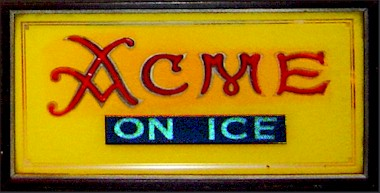 Acme lighted sign