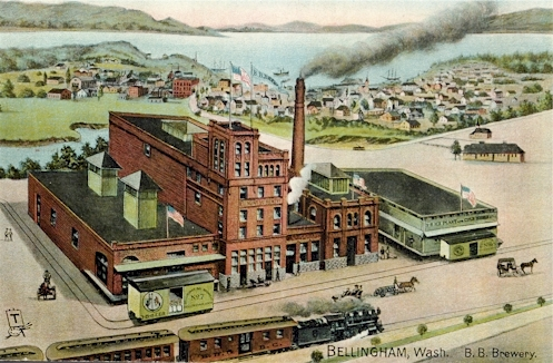 1905 postcard of 3-B Brewery - image