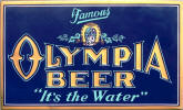 Olympia Beer embossed sign - image
