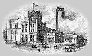 Etching of old Brewery