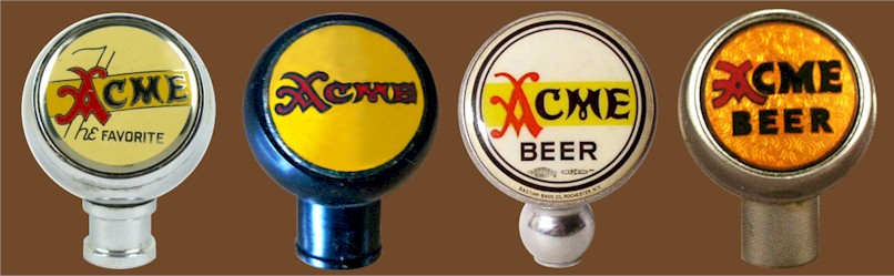 Four Acme ball tap knobs