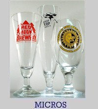 Micro-brewery glasses for sale
