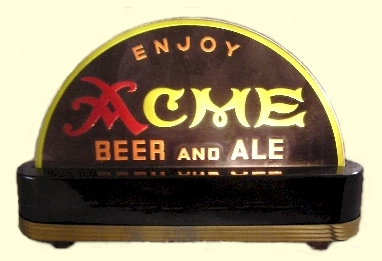 Acme Beer & Ale, lighted counter sign - image