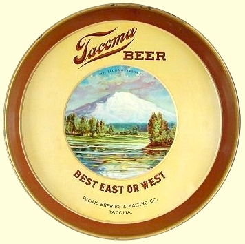 Tacoma Beer, yellow Mt. Tacoma beer tray - image