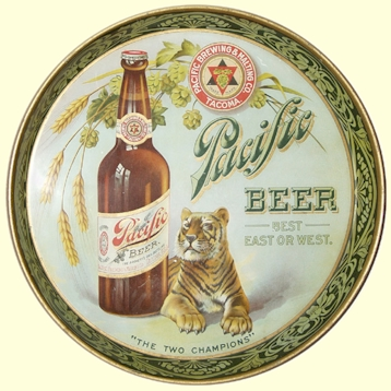 Pacific Beer, Two Champions beer tray - image
