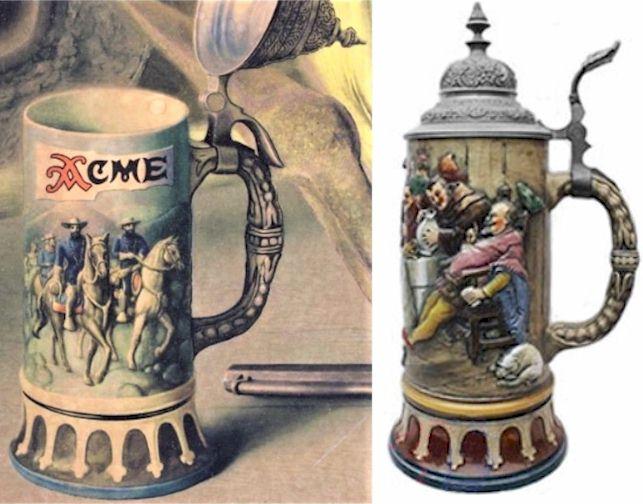 Dumler & Breiden stein with a painted copy