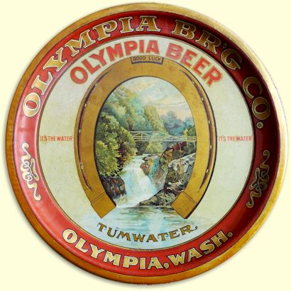 Olympia Brewing Co. tray, ca.1903