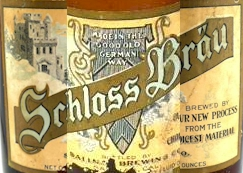 Schloss Brau Beer label, Salinas Brg. Co. - image