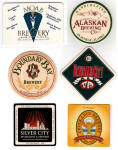Six brewery coasters