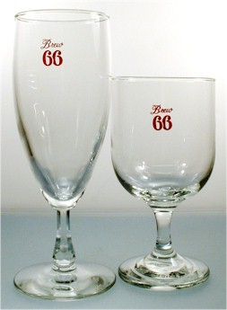 Two Brew 66 glasses